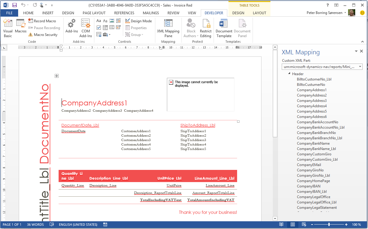 Microsoft-Dynamics-NAV-2015-document-reporting-create-own-layout