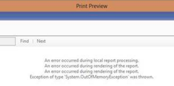 OutOfMemoryException-Dynamics NAV