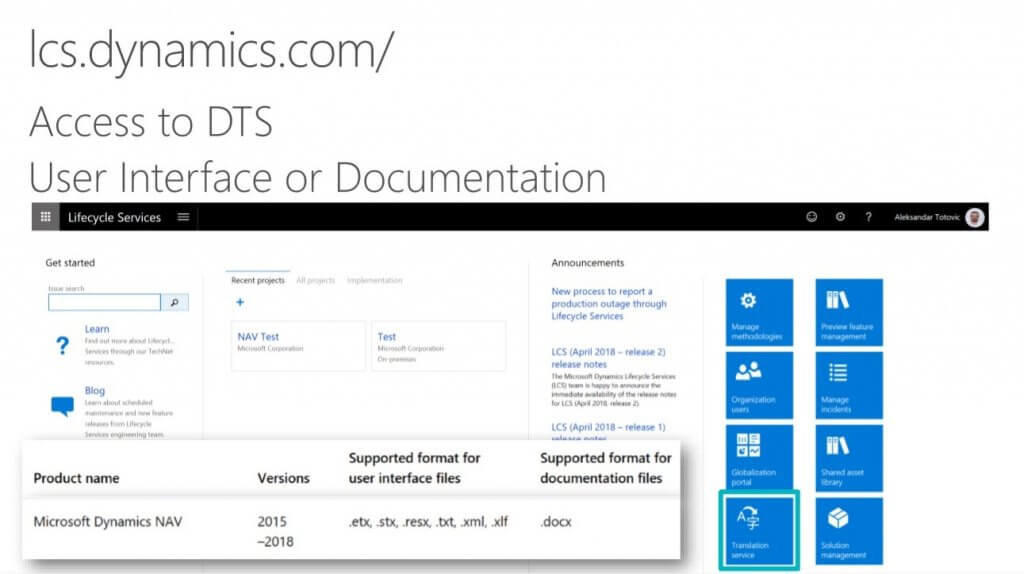 Microsoft Dynamics Lifecycle Services