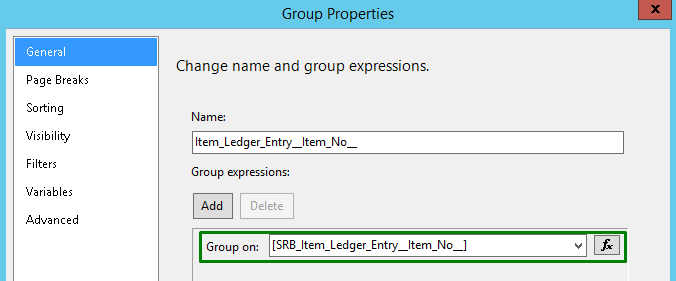 Group properties in Dynamics NAV
