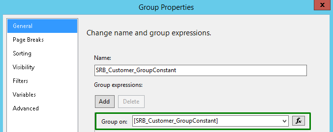 The header group