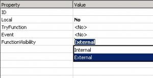FunctionVisibility property in NAV