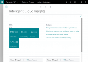 Intelligent Cloud Insight in Dynamics 365 Business Central